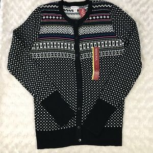 Merona Cardigan Sweater Size Small Black Pink
